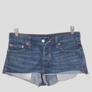 Levi's 501 jean shorts button fly W27 EUC frayed